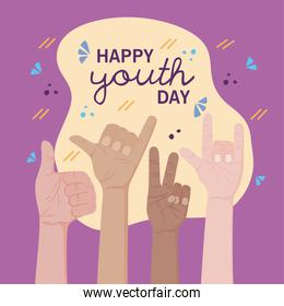 Happy youth day card
