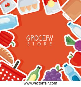 groceries store poster