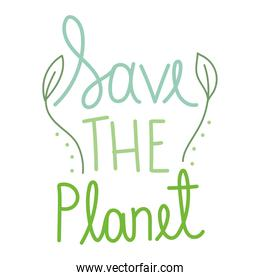 save the planet font