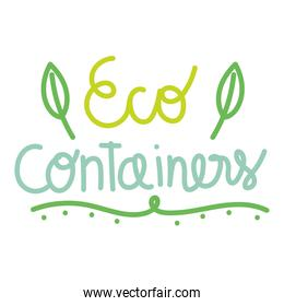 eco containers font