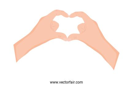 Two Hands Form Heart