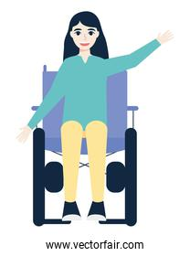 disabled young woman