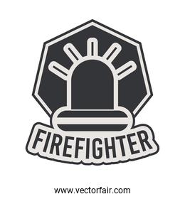 firefighter seal with siren