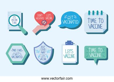 set of vaccination messages