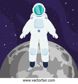 astronaut and pluto planet