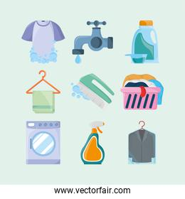 laundry objects icons