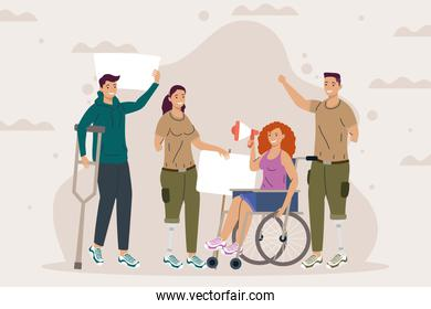 disability four characters