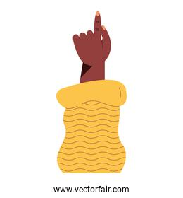 afro left hand indexing
