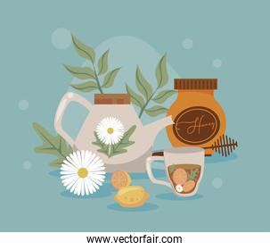 aromatherapy with flowers
