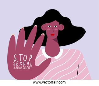 woman stop sexual harassment