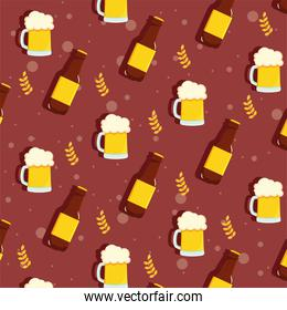 pattern with bottles beer