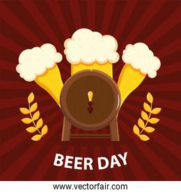 beer day with barrel