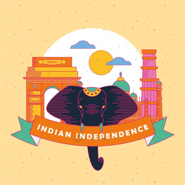 Happy india independence day banner