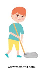mopping boy icon