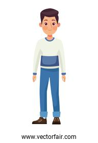 young man standing character