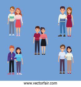five group couples