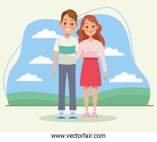 couple in the camp