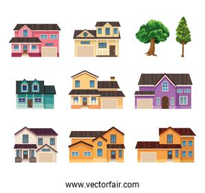eight fronts houses