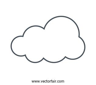 cloud silhouette icon