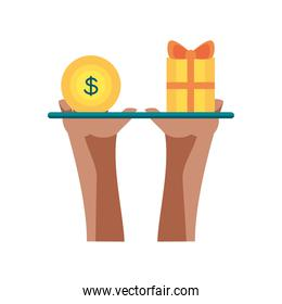 balancing money with gift