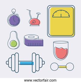 eight fitness items