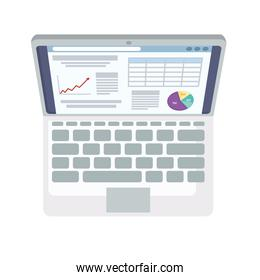 laptop with financial information