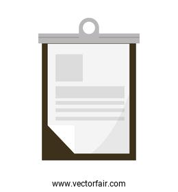 office clipboard with paper