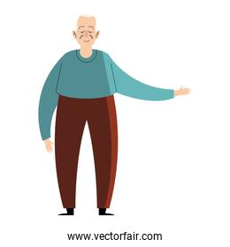 grandfather standing character