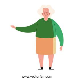 granmother standing character