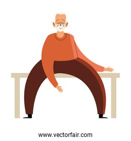 grandfather seated character