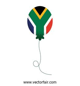 south african flag in balloon