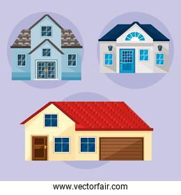 houses icon collection