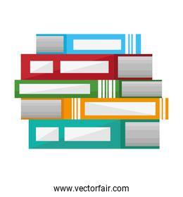 pile books text