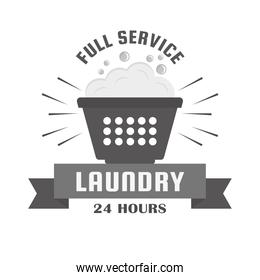 Laundry 24 hours stamp