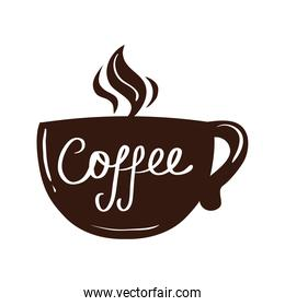 coffee with hot steam