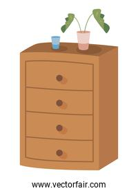 home furniture with plant