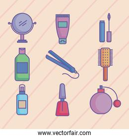 beauty products nine icons