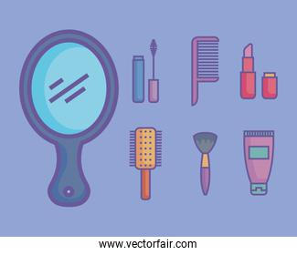 seven beauty products icons