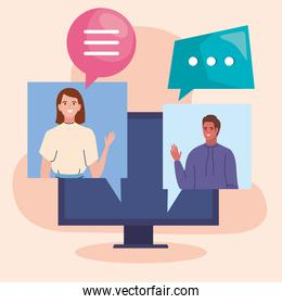 people in videoconference