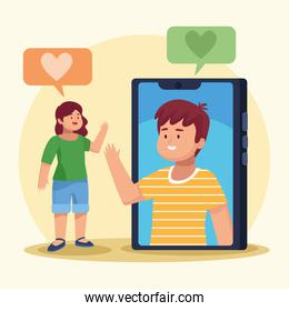 two persons in virtual meeting