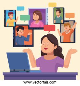persons in virtual meeting