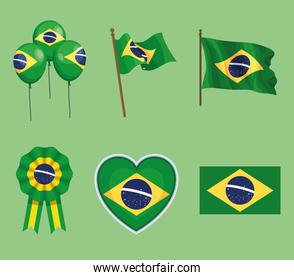 six brazil independence icons
