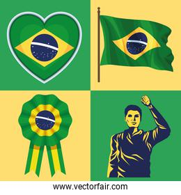 four brazil independence icons