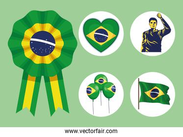 five brazil independence icons