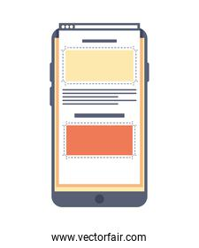 smartphone with webpage