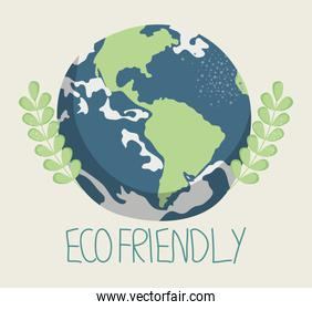 ecofriendly and planet illustration