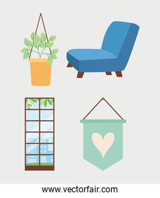chair and home decor