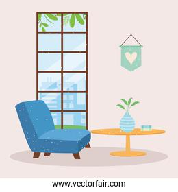 chair next to the window