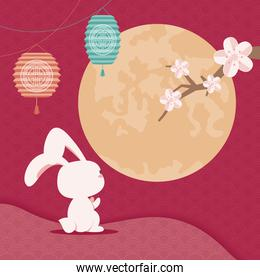 chinese Moon festival postcard