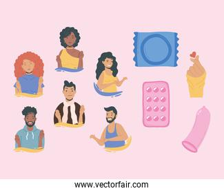ten sexual health day icons